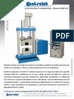 Machine d'Essais de Traction Compressio exion 2000kN