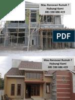 Jasa Renovasi Rumah Sidoarjo 081 330 686 419