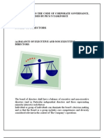 Amendments to the Code of Corporate Governance