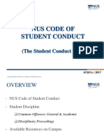 Orientation 2016 - NUS Code of Student Conduct