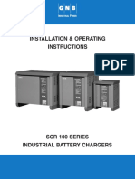 SCR100 Charger Installation & Operating Instructions, 2002-09-02