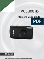 Canon IXUS 300 HS User Guide (English)