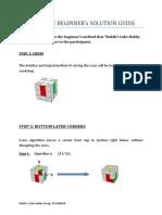 Rubik Beginner Method