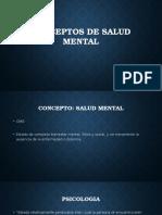 Conceptos de Salud Mental