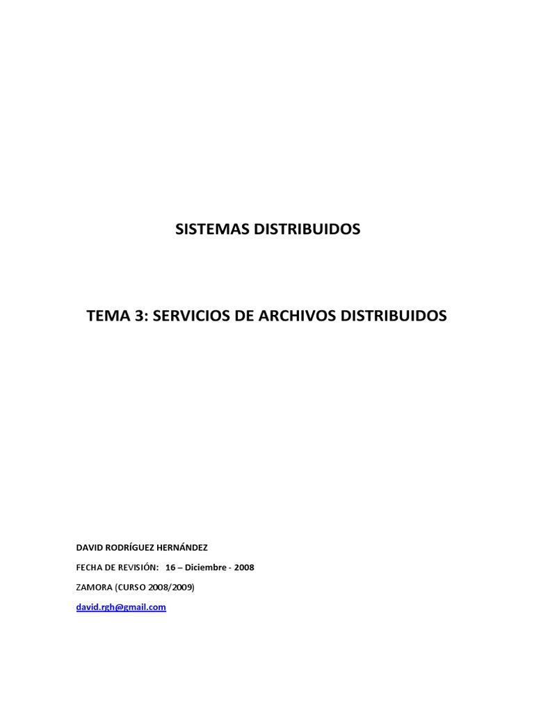 Aplicaciones distribuidas - Tema 3