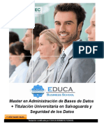 Master en Administración de Bases de Datos + Titulación Universitaria en Salvaguarda y Seguridad de los Datos