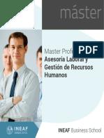 Master Profesional en Asesoría Laboral y Gestión de Recursos Humanos