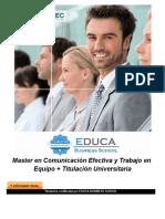 Master en Comunicación Efectiva y Trabajo en Equipo + Titulación Universitaria