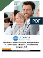Master en Creación y Gestión de Repositorios de Contenidos + Titulación Universitaria en Lenguaje XML