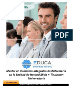 Master en Cuidados Integrales de Enfermería en la Unidad de Hemodiálisis + Titulación Universitaria