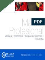 Master de Enfermería en Emergencias, Urgencias y Catástrofes