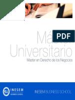 Master en Derecho de los Negocios (Titulación Universitaria + 60 Créditos ECTS)