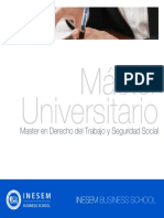 Master en Derecho del Trabajo y Seguridad Social (Titulación Universitaria + 60 Créditos ECTS)