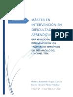 Una Mirada Hacia La Intervencion en Los Trastornos Especificos de Desarrollo de Lenguaje