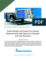 One-man RF Power Flux Basic Measurements With a Spectrum Analyzer Rohde&Schwarz