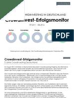 Crowdinvest-Erfolgsmonitor 2016 - 5 Jahre Crowdinvesting