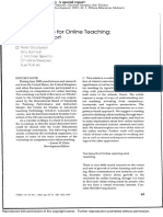 Competences for Online Teaching
