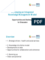 Developing an Integrated Knowledge Management Model