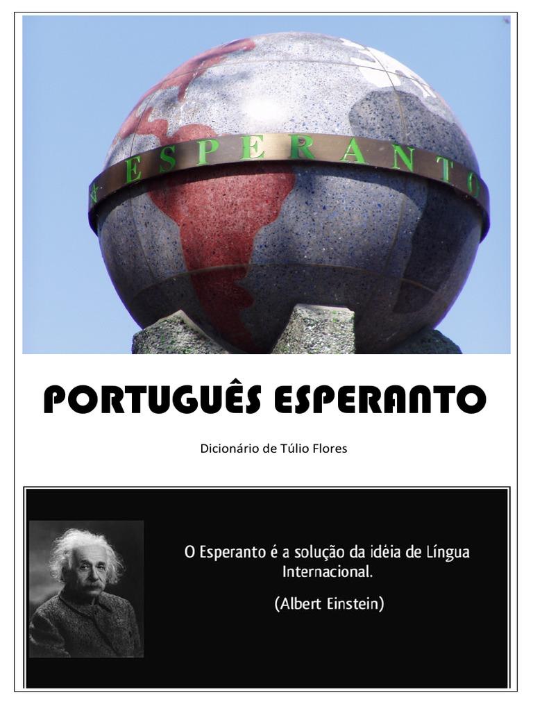 40f9e9bb19c8a Dicionário Português Esperanto - Tulio Flores