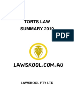 Torts Law Summary - Sample