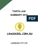 Torts Law Summary - Sample
