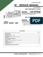 Sharp CD-xp200 Xp2200 Sm