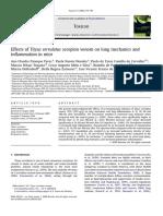 Effects of Tityus Serrulatus Scorpion Venom on Lung Mechanics - Toxicon 2009