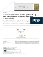 A Review on Plants Extract Mediated Synthesis Of