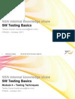SW Testing Basics 2011 Module 4