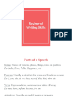 Review of Writing Skills