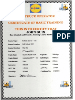 LIDL UK Fork Lift Truck Refresher Certificate