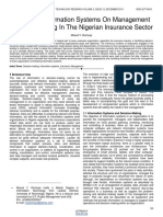 Impact of Informations Systems on Management Decision Making in the Nigerian Insurance Sector