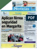 Últimas Noticias Vargas domingo 12 septiembre  de  2016