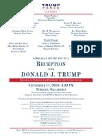 Trump Reception, Norman, OK 9/17/2016