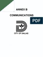 Annex B - Communications (2015)