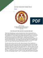 Text Original Posibil Al Sinodului, Asa Cum Apare Pe Site