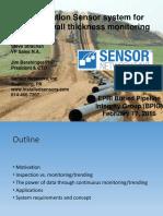 Next Generation Sensor System for Ultrasonic Wall Monitoring EPRI BPIG...