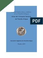 II Simposio Nacional de Filosofía Antigua. Rosario 2015. ACTAS
