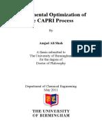 Experimental Optimization of the Capri Procces, Upgrading Heavy Oil