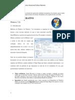 Manual Operador paquetes Windows 7