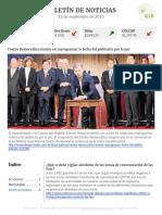 Boletín de noticias KLR 12SEP2016