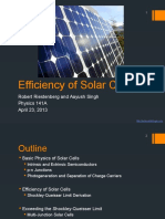 Singh Riestenberg Solar Cell Efficiency