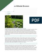 How to Solve Hillside Erosion