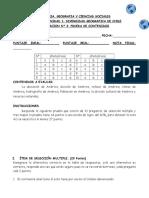 CLASE 07 - EVALUACION - N° 3, PRUEBA DE CONTENIDOS 4º
