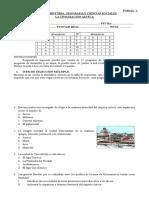02 de Septiembre de 2014 - 4° Básico Unidad II - Las civilizaciones mesoamericanas - Prueba de contenidos Forma A