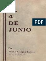 El 4 de Junio Manuel Aranguiz (1932)