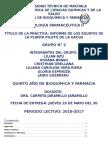 Equipos de La Planta Piloto de La UACQS
