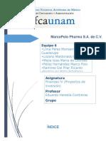 Practica Proyectos de Inversion - MarcoPolo Pharma S.a. de C.V.