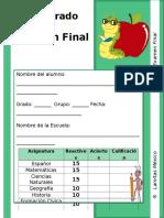 5to Grado - Examen Final.doc