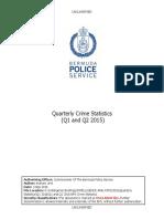 Q1 and Q2 2016 BPS Crime Statistics